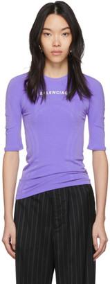 Balenciaga Purple Athletic T-Shirt
