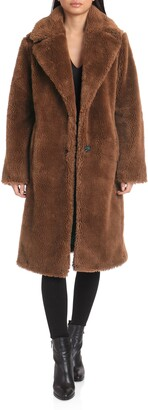 AVEC LES FILLES Faux Fur Teddy Coat