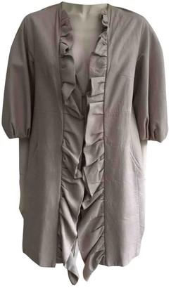 Giambattista Valli Beige Leather Coat for Women