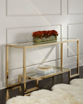 Interlude Cole Brass Console Table