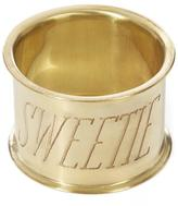 Sir/Madam SirMadam Sweetie Brass Napkin Ring