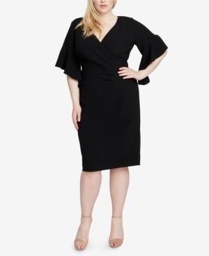 Rachel Roy Trendy Plus Size Faux-Wrap Sheath Dress