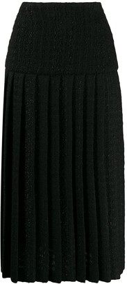 Alexandre Vauthier Tweed-Style Pleated Skirt
