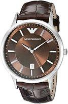 Emporio Armani Men's AR2413 Dress Brown Leather Watch