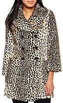 JCPenney a.n.a.® Vintage Faux Leopard Swing Coat