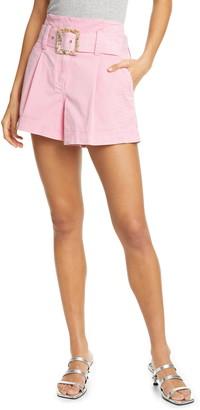 Tanya Taylor Lena Belted Shorts