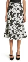 St. John Women's Floral Embroidered Flared Skirt