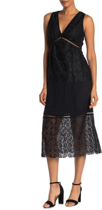 Joie Ardal Lace Midi Dress
