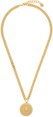 Versace Gold Cuban Link Medusa Necklace