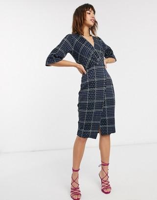 Closet London Closet bell sleeve wrap dress