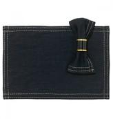 Mela Artisans Viceroy In Black/Gold Placemat