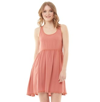 Animal Womens Lacee Woven Dress Brick Dust Pink