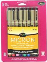 Sakura 30066 8-Piece Pigma Micron Assorted Colors Ink Pen Set