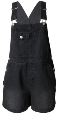 Tinseltown Juniors' Cotton Denim Shortalls