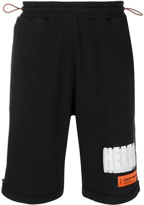 Heron Preston Drawstring Logo Shorts