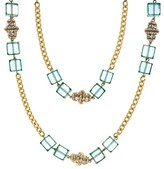 Chanel Glass Square Beaded Necklace