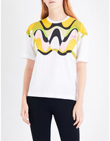 Emilio Pucci Abstract-print cotton-jersey T-shirt
