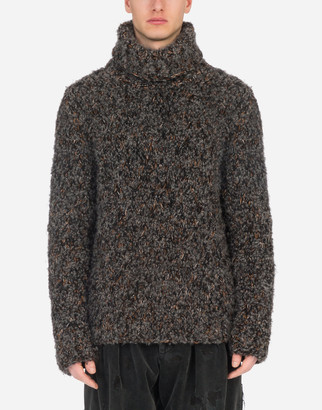 Dolce & Gabbana Handmade Wool And Cashmere Turtle-Neck Sweater