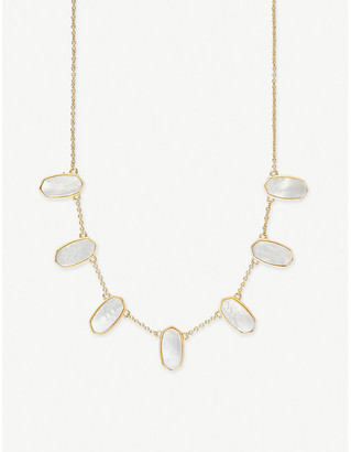 Kendra Scott Meadow 14ct gold-plated and mother-of-pearl necklace