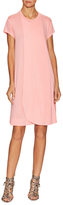 Balenciaga Front Wrap Ribbed Shift Dress