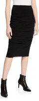Fuzzi Ruched Knee-Length Pencil Skirt