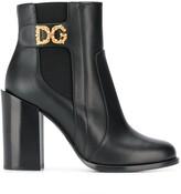 Dolce & Gabbana embellished logo boots