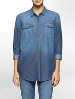 Calvin Klein Boyfriend Fit Indigo Denim Shirt