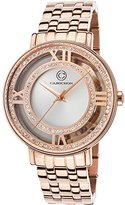 Cabochon Women's 'Carnaval' Quartz Stainless Steel Casual Watch (Model 80288-RG-02S)