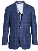 Peter Millar Men's Windowpane Wool Blazer