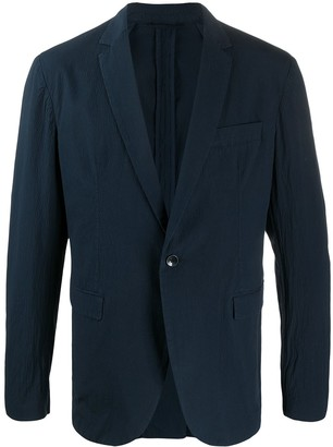 Dondup Textured Single Breasted Suit Jacket