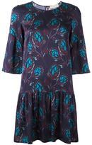 L'Autre Chose leaves print flared dress