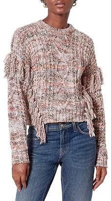 Joie Meghan Fringe Trim Sweater
