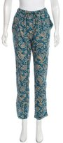 Etoile Isabel Marant Floral Print Straight-Leg Pants