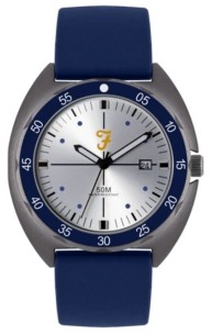 Farah Men's the Sport Collection Blue Silicone Strap Watch 43mm