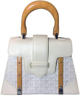 Goyard Saigon White Cloth Handbags