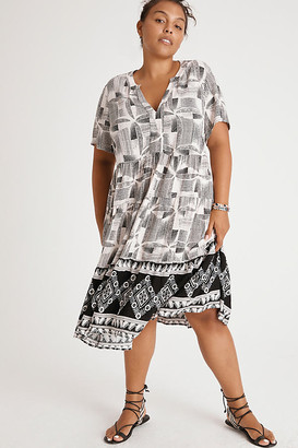 Maeve Tania Tiered Tunic Dress By in Grey Size XS
