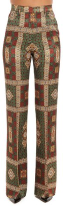 Etro Flared Printed Trousers