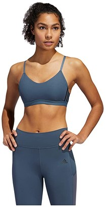 adidas All Me 3-Stripes Bra (Legacy Blue/Black) Women's Bra
