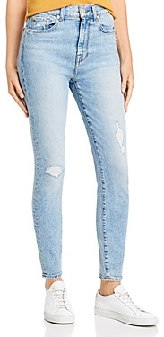 7 For All Mankind High Waist Ankle Skinny Jeans in Vail