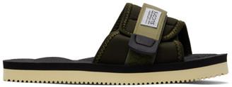 Suicoke Khaki and Black Padri Sandals