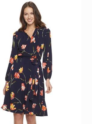 Petite Suite 7 Bishop-Sleeve Fit & Flare Dress