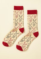 Out of Print This Way to Wonderland Socks