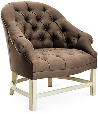Bunny Williams Home Tufted Accent Chair - Alpine/Brown Linen