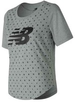 New Balance Women's WT71645 Trackster Short Sleeve Top