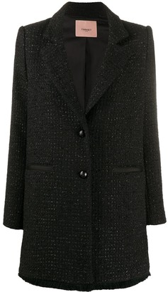Twin-Set Tweed Collared Jacket