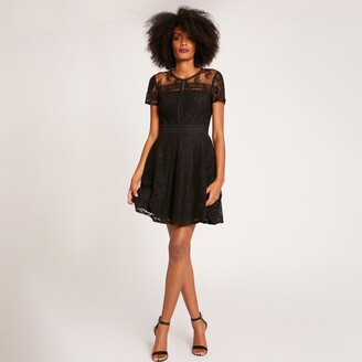 Morgan Short Flared Lace Dress