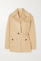 Marni Cotton And Linen-blend Twill Jacket - Beige