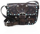 Valentino Rockstud Rolling Santeria-Embossed Leather Shoulder Bag