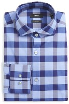 BOSS Men's Jason Slim Fit Easy Iron Check Dress Shirt