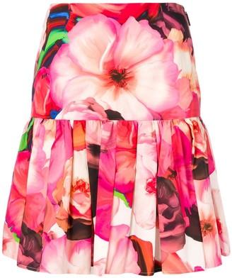 MSGM floral print pleated skirt